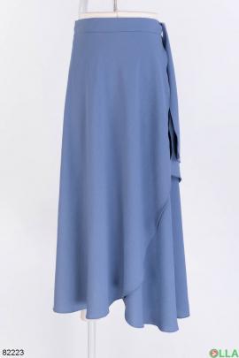 Женская синяя юбка с завязками