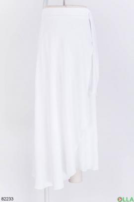 Женская белая юбка с завязками