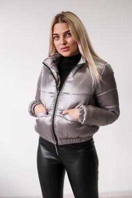 Женская серебристая куртка