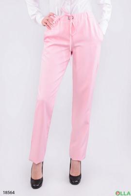 Стильные женские боюки на резинке розового цвета