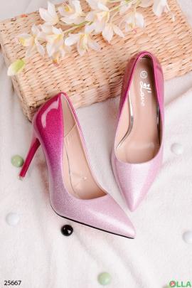 Туфли-лодочки с блёстками