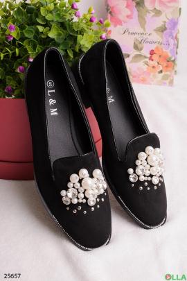 Туфли с бусинами