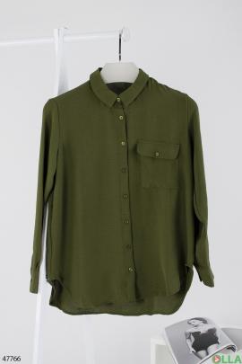 Женская зелёная рубашка