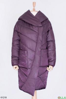 Женская фиолетовая зимняя куртка