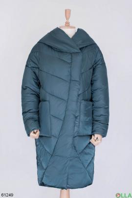 Женская зеленая зимняя куртка