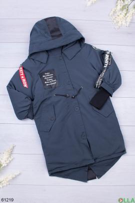 Женская синяя зимняя куртка