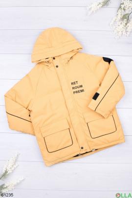 Женская желтая зимняя куртка