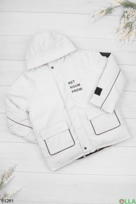 Женская зимняя белая куртка