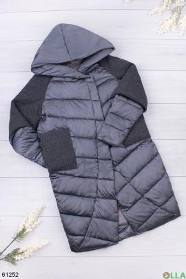 Женская темно-серая зимняя куртка
