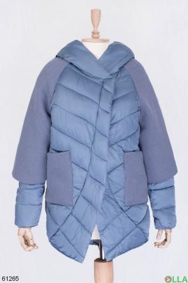 Женская голубая зимняя куртка