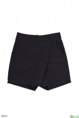 Юбка-шорты черная