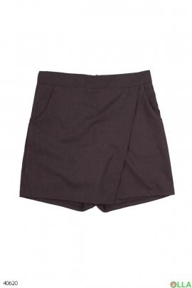 Юбка-шорты коричневая