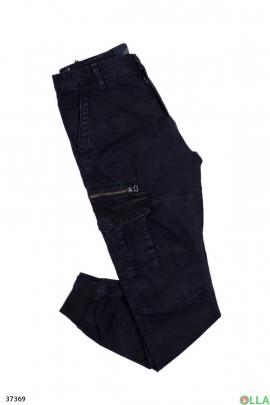 Мужские  джинсы со змейкой