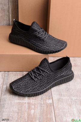 Кроссовки черного с серым цветом