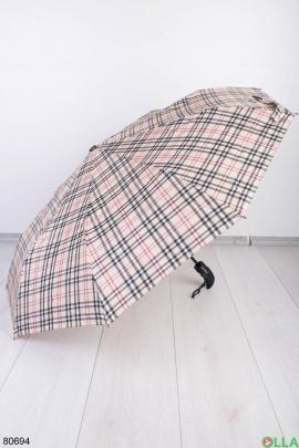 Женский зонт в клетку
