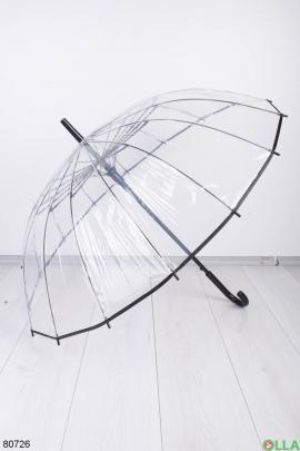 Мужской прозрачный зонт