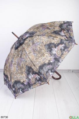 Женский зонт в леопардовый принт