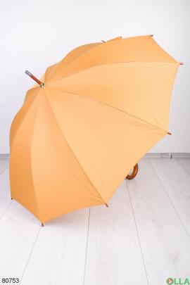 Женский оранжевый зонт