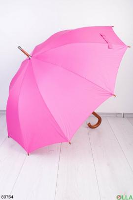 Женский розовый зонт с принтом