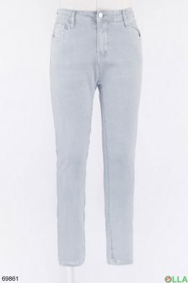 Женские светло-серые джинсы