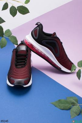 Мужские черно-бордовые кроссовки