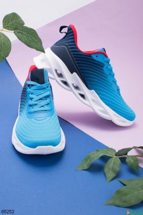 Мужские сине-голубые кроссовки