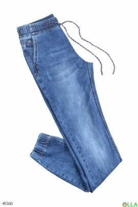 Мужские джинсы на резинке