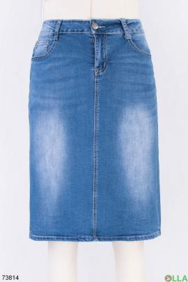 Женская синяя джинсовая юбка