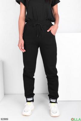 Женские спортивные черные брюки