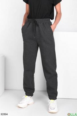 Женские спортивные темно-серые брюки