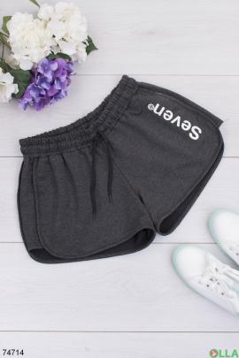 Женские темно-серые спортивные шорты