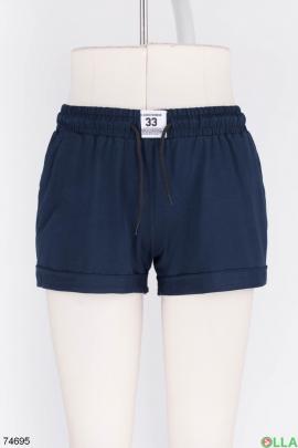 Женские темно-синие спортивные шорты