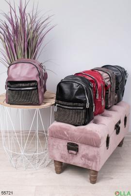 Женский рюкзак  со стразами