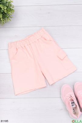 Женские светло-розовые спортивные шорты
