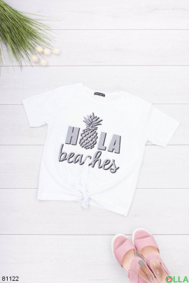 Женская белая футболка с надписью
