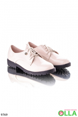 Туфли оксфорды бежевые