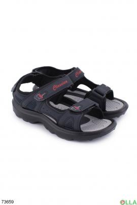 Мужские темно-синие сандалии