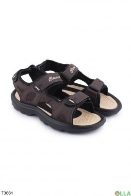 Мужские черно-коричневые сандалии