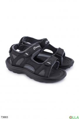 Мужские черно-серые сандалии
