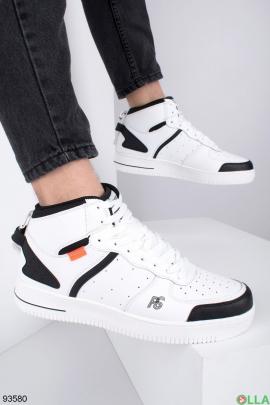 Мужские белые демисезонные кроссовки