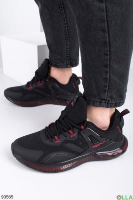 Мужские черные демисезонные кроссовки