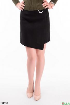 Черная юбка на запах