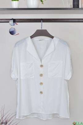 Женская белая рубашка