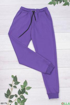 Женские спортивные брюки фиолетового цвета