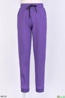 Женские фиолетовые спортивные брюки