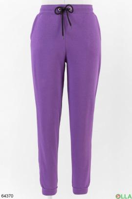 Женские фиолетовые спортивные брюки на флисе