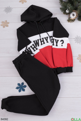 Женский зимний спортивный костюм на флисе