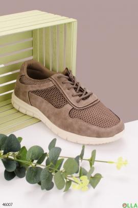 Мужские серые кроссовки