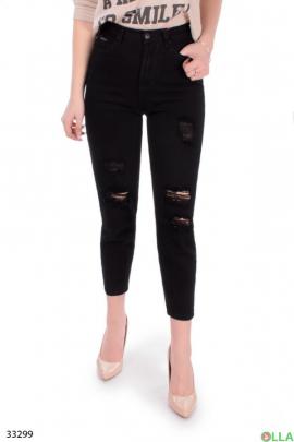 Черные женские джинсы