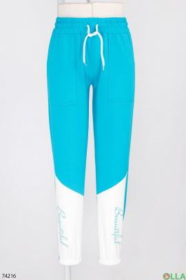 Женские спортивные брюки с надписью